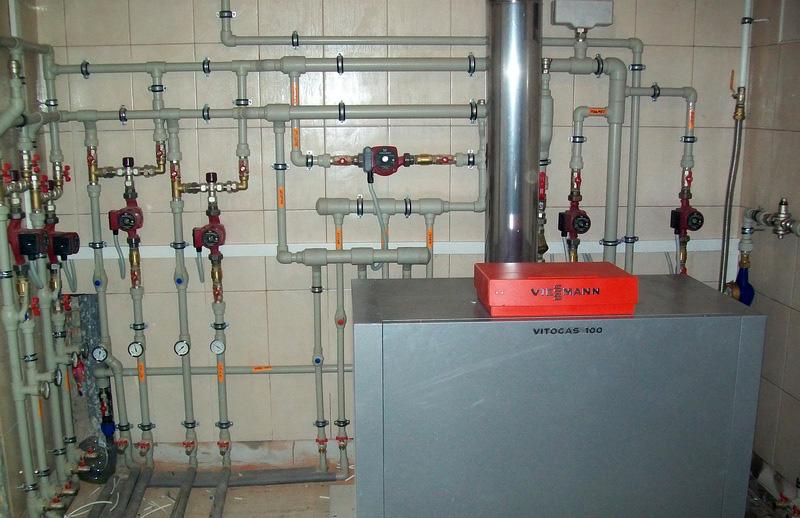 Фото котельной и системы отопления