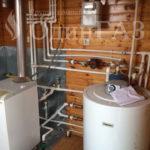 Подключение газа и монтаж котла в доме
